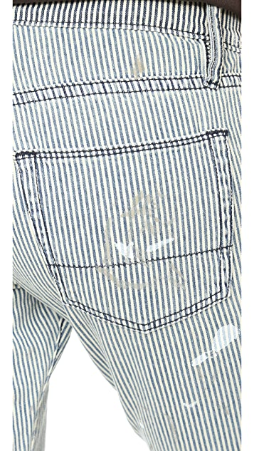 NSF Skinny Crop Railroad Stripe Jeans