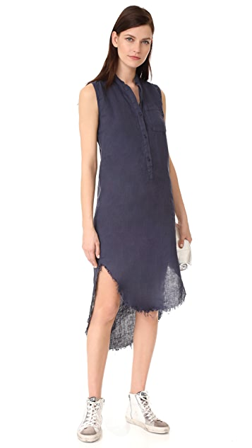 NSF Renny Sleeveless Shirtdress