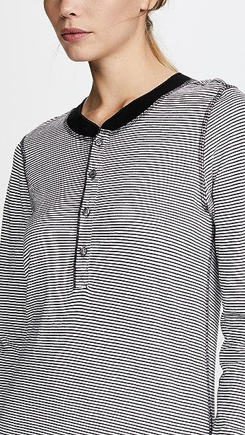 NSF Hal Long Sleeve Stripe Henley