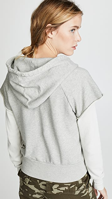 NSF Ray Jersey Sleeve Pullover Hoodie