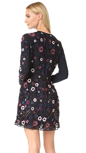 Needle & Thread Long Sleeve Embroidered Folk Dress