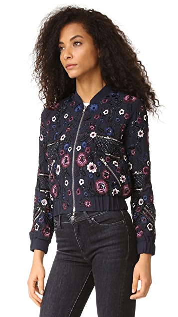 Needle & Thread Embroidered Folk Bomber Jacket