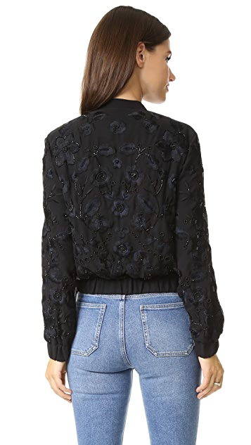 Needle & Thread Blossom Embroidery Bomber