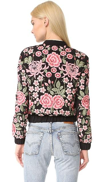 Needle & Thread Embroidery Rose Bomber Jacket