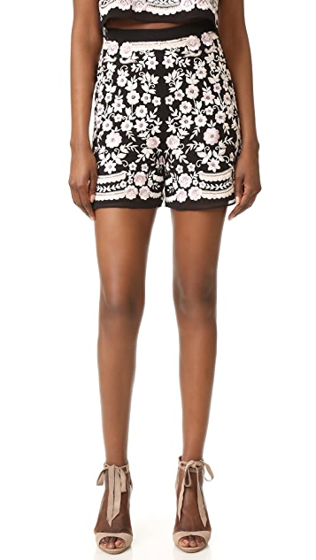 Needle & Thread Prairie Embroidery Shorts