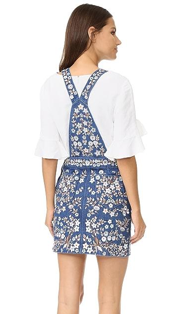 Needle & Thread Denim Embroidery Pinafore Dress