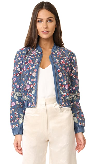 Needle & Thread Wild Flower Denim Bomber