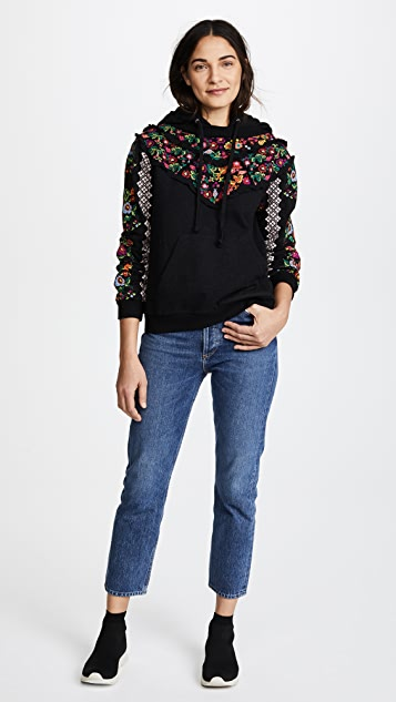 Needle & Thread Cross Stitch Flower Hoody