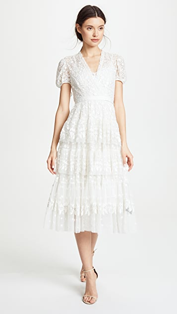 Needle & Thread Layered Lace Gown