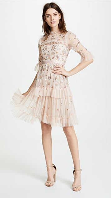 Lustre Ruffle Dress by Needle & Thread