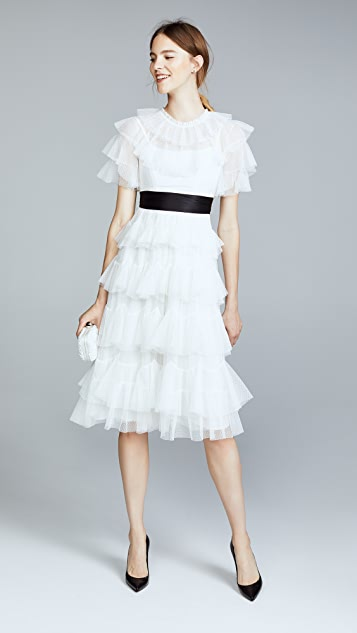Needle & Thread Scallop Tulle Midi Dress