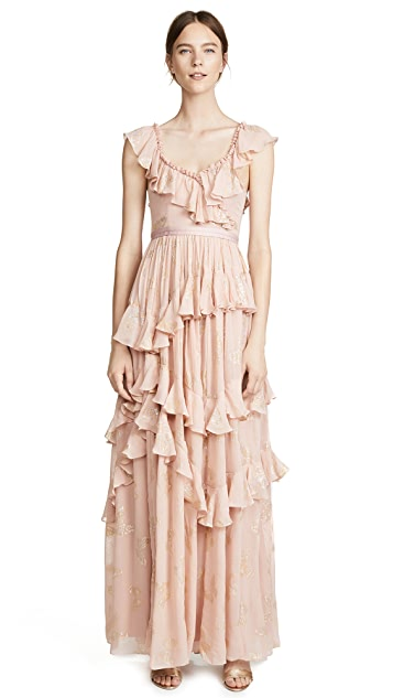 Needle & Thread Metallic Butterfly Gown