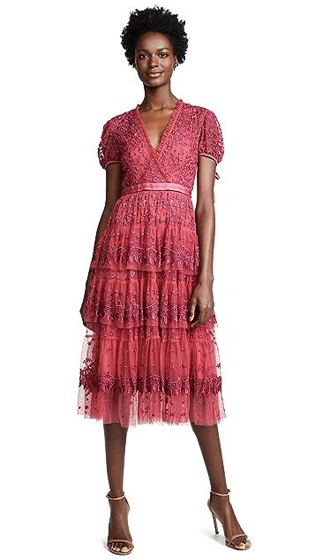 Needle & Thread Layered Lace Dress