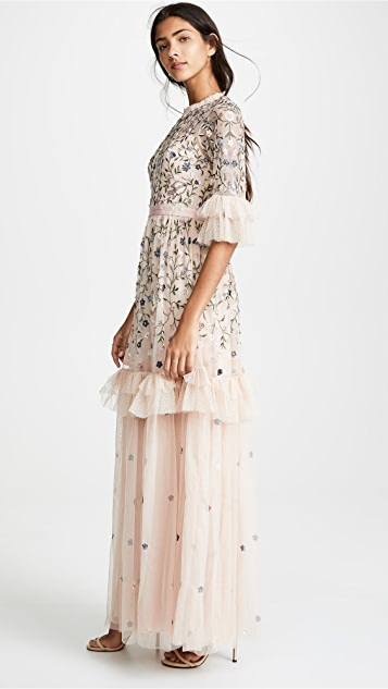 Needle & Thread Dusk Floral Gown