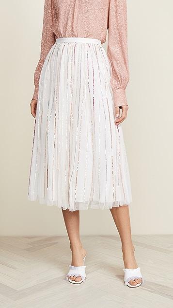 Needle & Thread Shimmer Sequin Midaxi Skirt