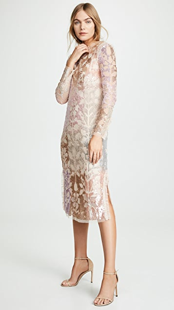Needle & Thread Tiled Sequin Dress