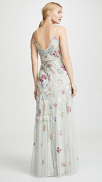 Needle & Thread Deconstructed Sequin Gown