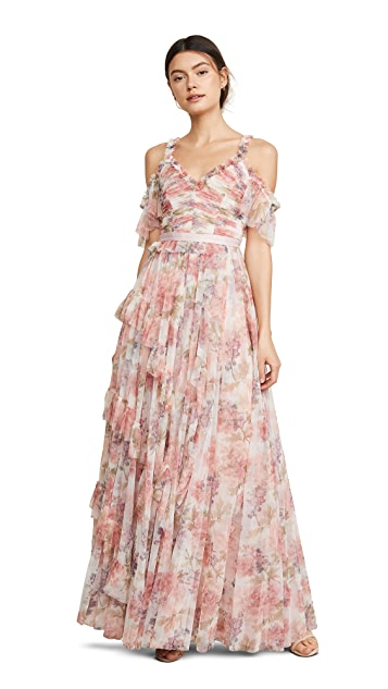 Needle & Thread Titania Rose Tulle Gown