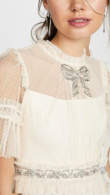 Needle & Thread Embellished Bow Dress