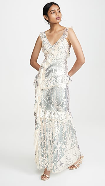 Needle & Thread Scarlett Sequin Gown