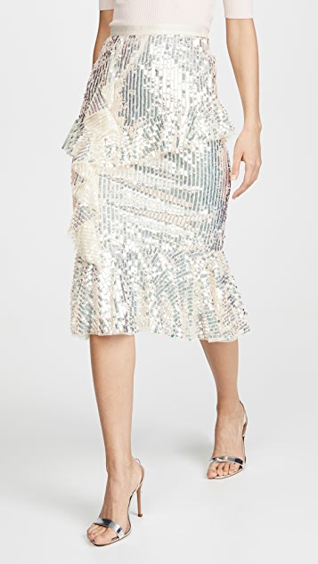 Needle & Thread Scarlett Sequin Midaxi Skirt
