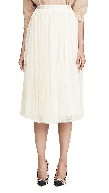 Needle & Thread Dotted Tulle Midaxi Skirt
