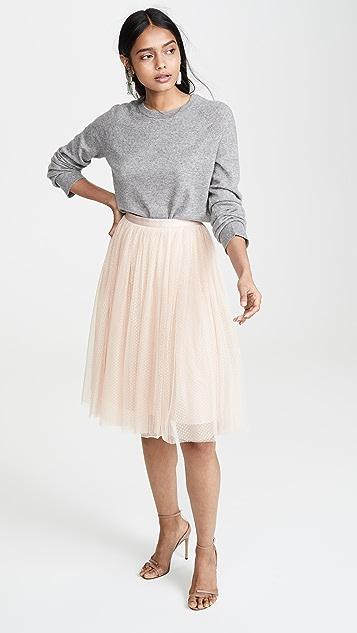 Needle & Thread Dotted Tulle Midi Skirt