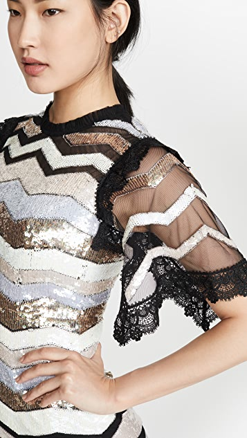 Needle & Thread Alaska 中长连衣裙