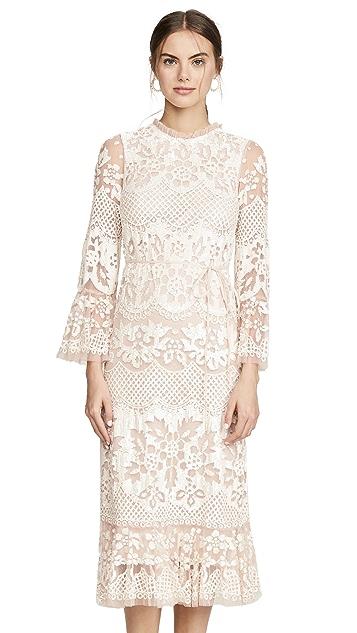 Needle & Thread Платье Snowdrop Midaxi