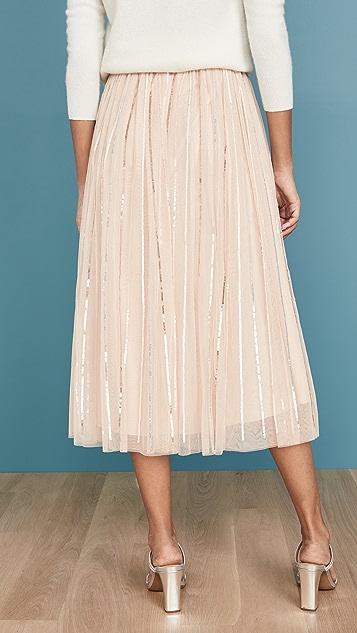 Needle & Thread 闪光色亮片中长半身裙