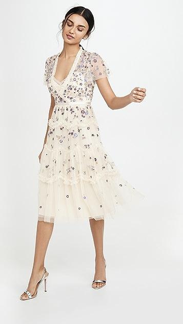 Needle & Thread Платье Prarie с цветочным рисунком