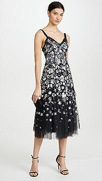 Wildflower Sequin Midi Dress