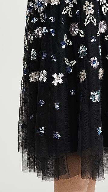Needle & Thread Wildflower Sequin Midi Dress