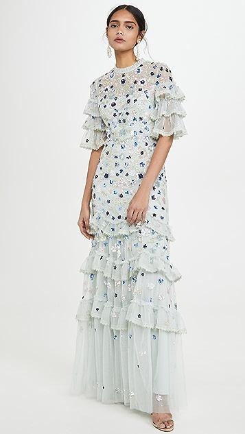 Needle & Thread Meadow Sequin Gown