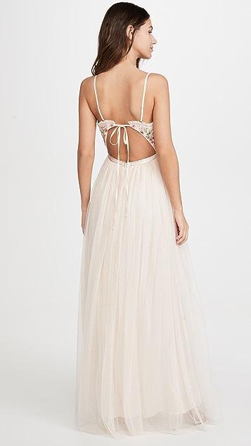 Needle & Thread 蝴蝶衣身吊带长裙