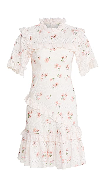 Needle & Thread Desert Rose Lace Mini Dress