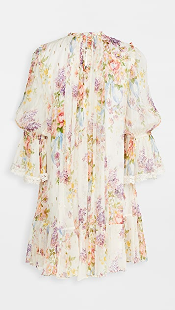 Needle & Thread Floral Diamond Chiffon Dress