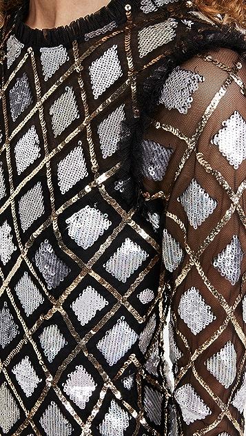 Needle & Thread Sequin Diamond Ballerina Dress