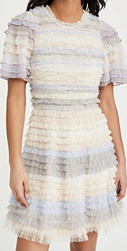 Needle & Thread - Luella Ruffle Mini Dress