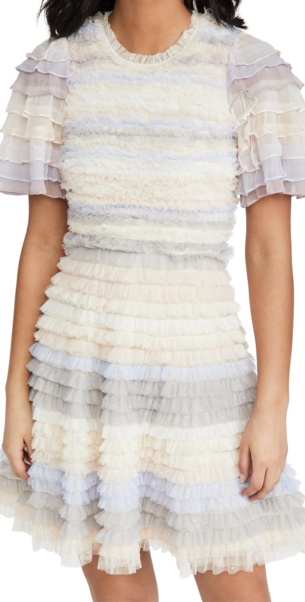 Needle & Thread Luella Ruffle Mini Dress
