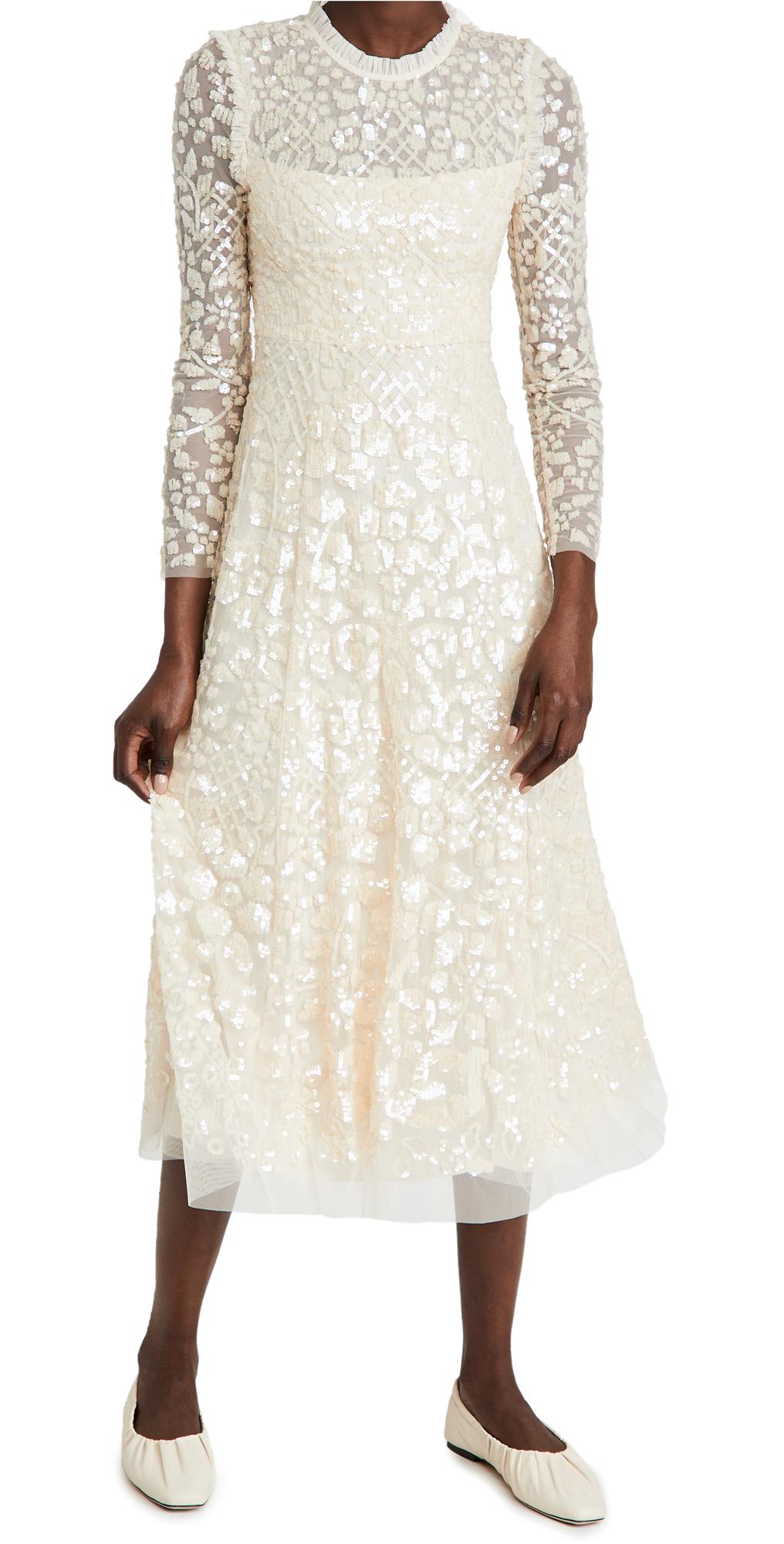 Needle & Thread Aurelia Long Sleeve Ballerina Dress