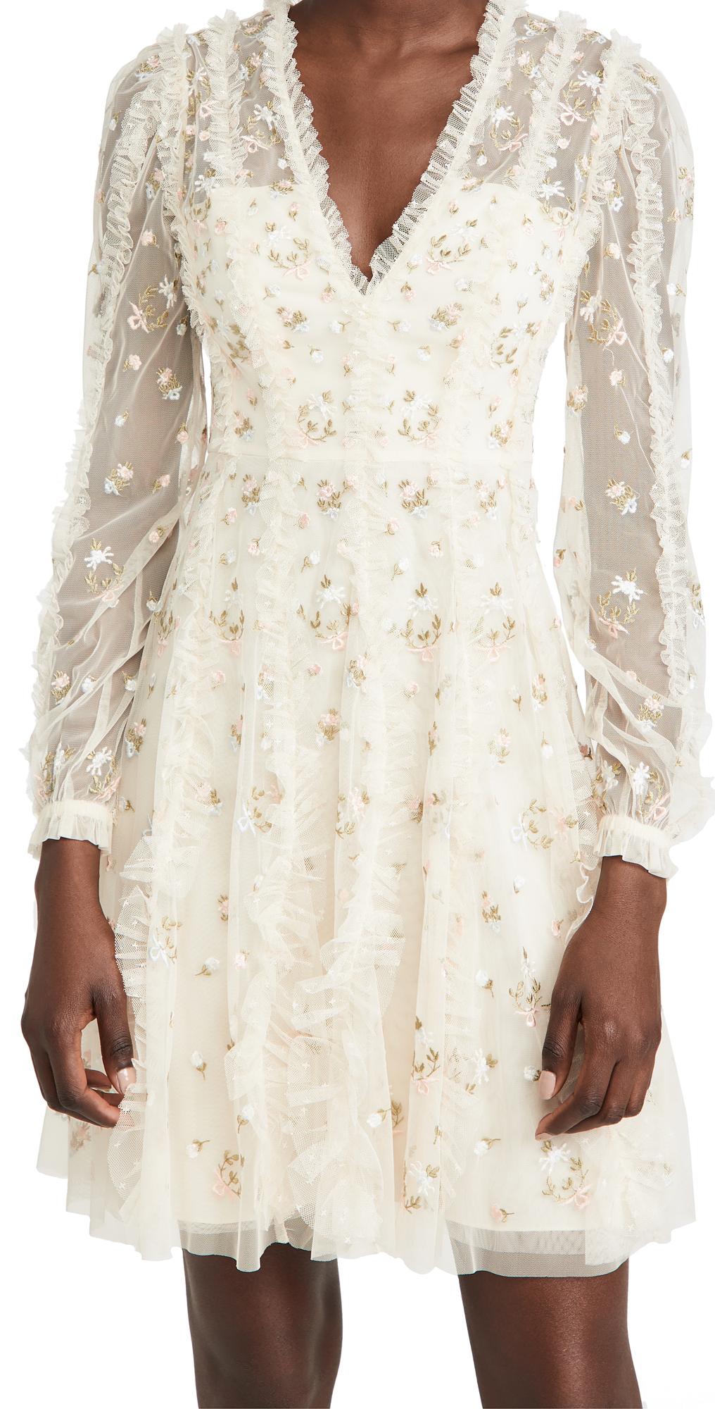 Needle & Thread Frieda Disty Long Sleeve Mini Dress