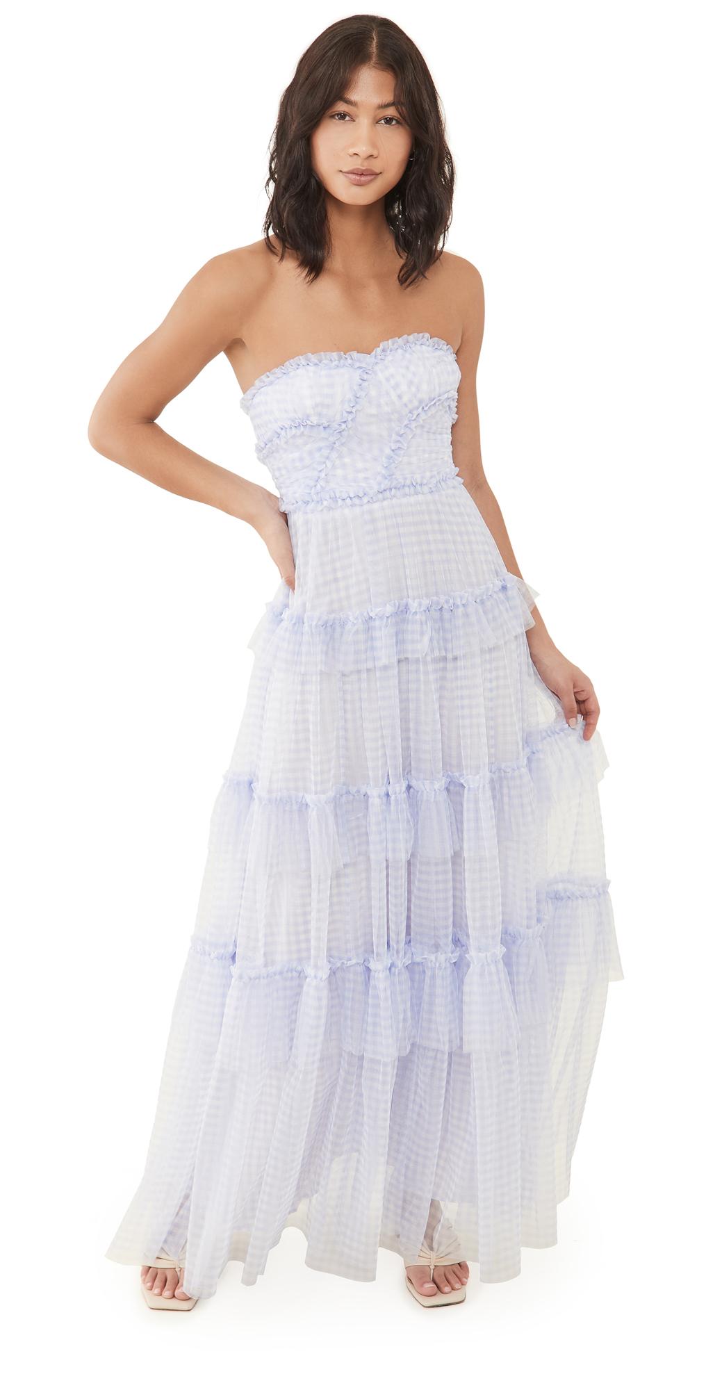 Needle & Thread Caroline Gingham Tulle Gown