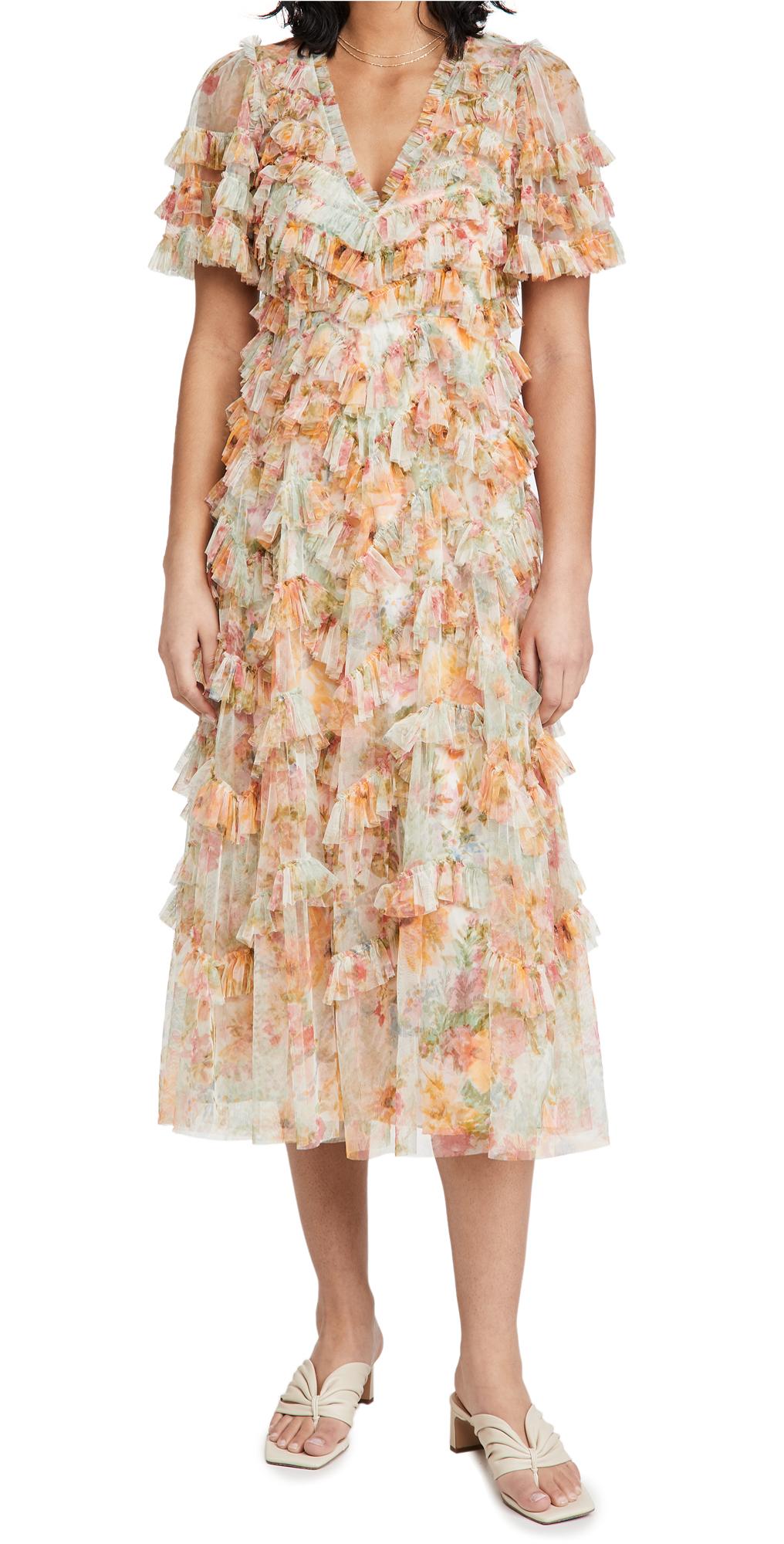 Needle & Thread Sunset Garden V Neck Ballerina Dress