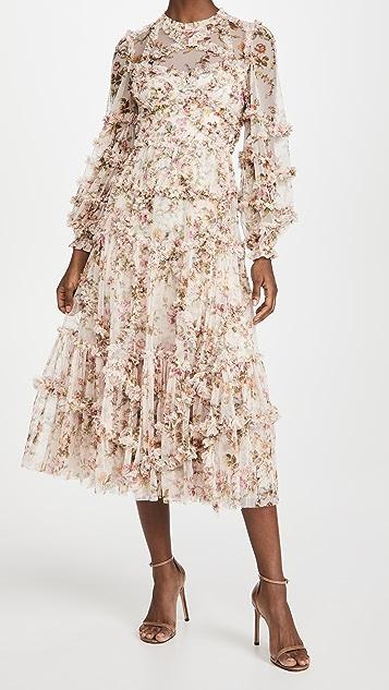 Needle & Thread Garland Flora 荷叶边芭蕾风格连衣裙