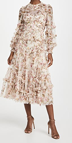 Needle & Thread - Garland Flora 荷叶边芭蕾风格连衣裙