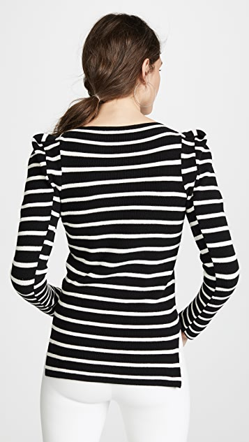 NUDE Striped Boat Neck Sweater