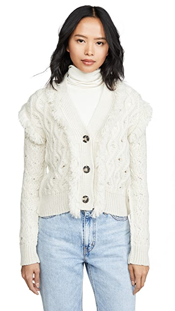 NUDE Knit Jacket With Fringe