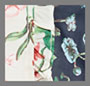 Beige/Navy Floral