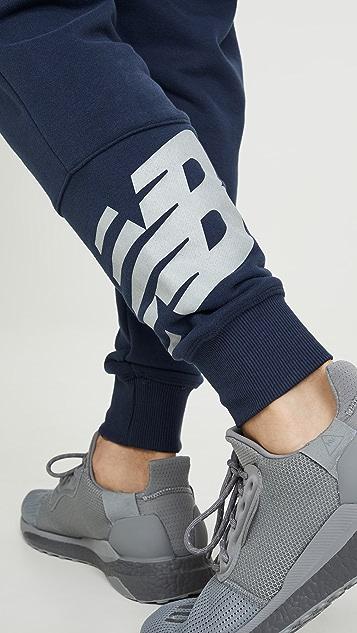 New Balance Reflective Logo Joggers
